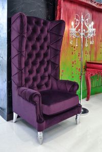 Baroque High Back Chair - Purple Chair | Chairs and More ...