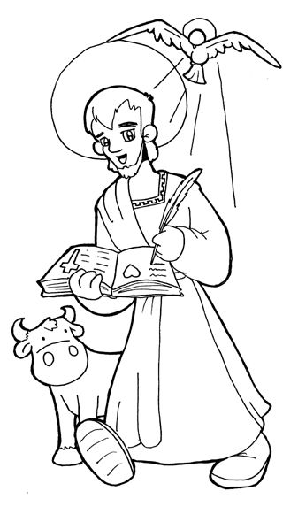 Coloring, Search and Luke the evangelist on Pinterest