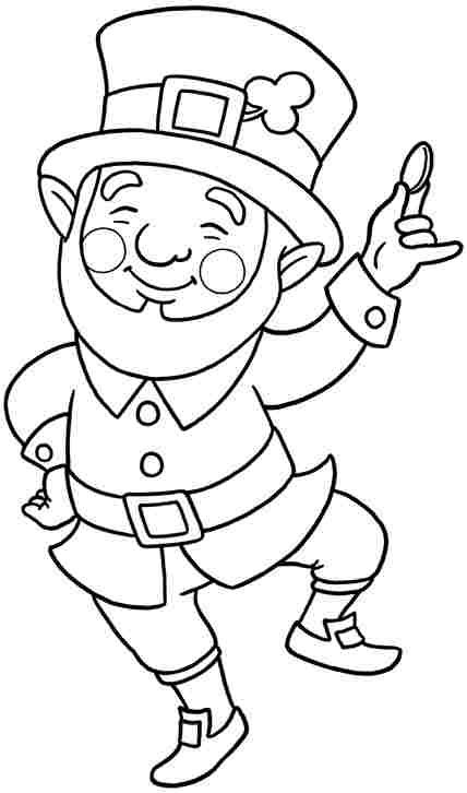 Free Colouring Pages Saint Patrick Leprechaun For Little