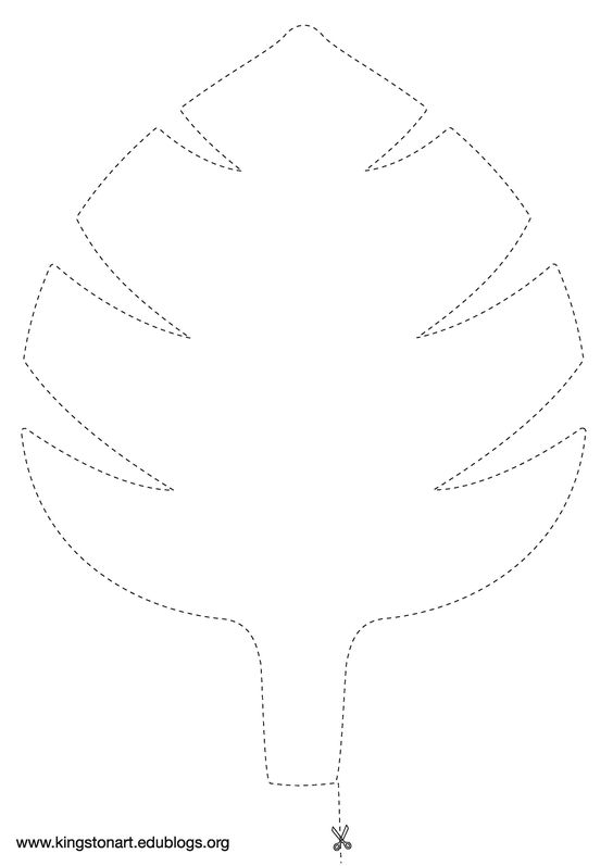 Leaf template Jungles and Leaves on Pinterest