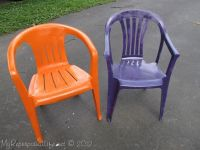 spray paint old ugly plastic chairs | DIY | Pinterest ...