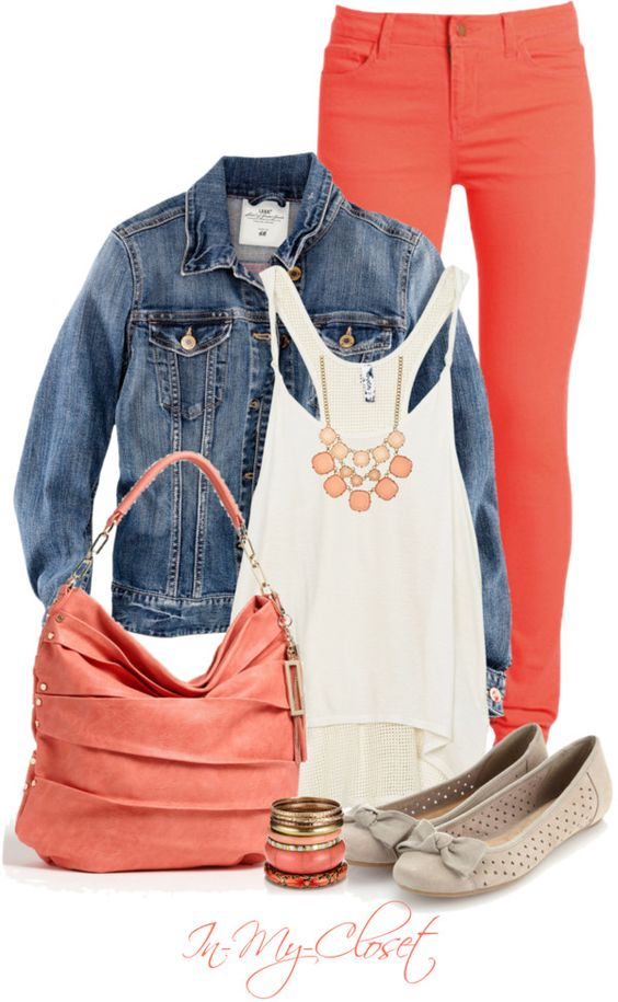 """Pretty In Peach"" by in-my-closet on Polyvore:"