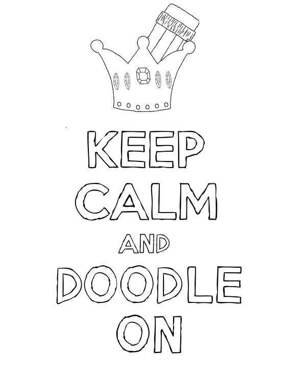Doodles and Keep calm on Pinterest