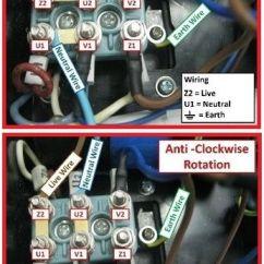 3 Phase Power Wiring Diagram Isuzu Kb Radio Single Motor Rotation (clockwise & Anti Clockwise) Electrical Info Mechanics Pics | Non ...