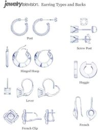 Earring Clasp & Back Types