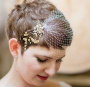 wedding hairstyle brides pixie