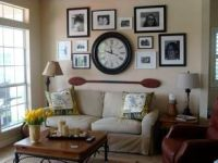 Picture arrangements, Clock and Wall decor on Pinterest