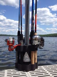 Fishing Rod Retainer  The multiple fishing rod holder and