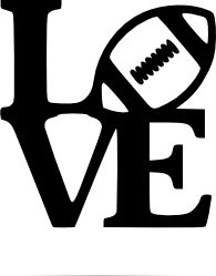 """Download Crafting with Meek: """"Love"""" Football SVG 