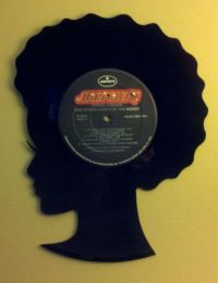 Vinyl Record Hair Girl Wall Art by BlackberryHillDesign on