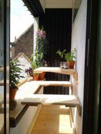 Great idea for a small narrow balcony! | Balcony ...