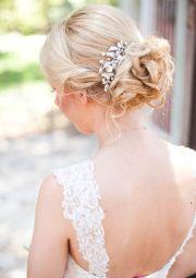 updo wedding and medium lengths
