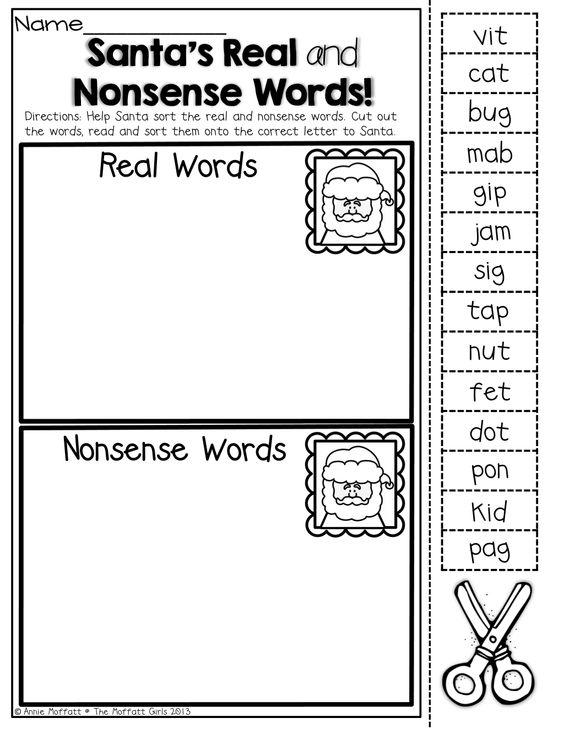 Nonsense words, Kindergarten and Words on Pinterest
