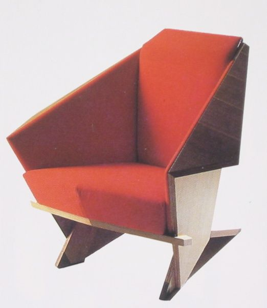 The Frank Lloyd Wright Origami Chair, I got to sit in one