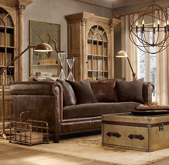 Restoration Hardware living roomlooks like ours