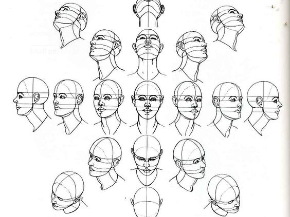 number of head drawing tutorials. Useful for when learning