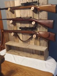 Rustic gun rack, gun display | Gun racks, Guns and Offices