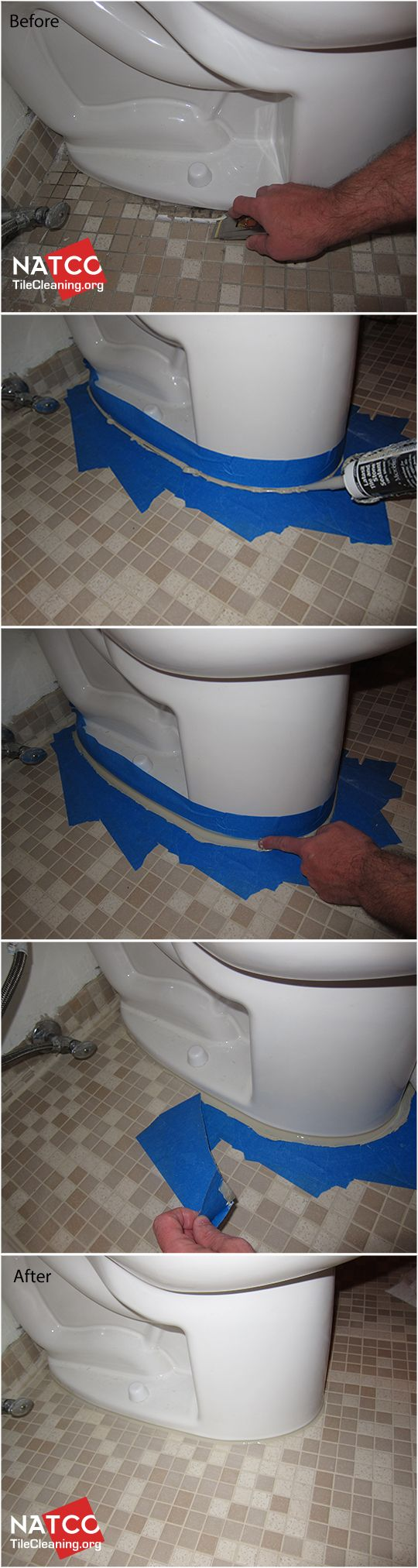 How to recaulk a toilet.: