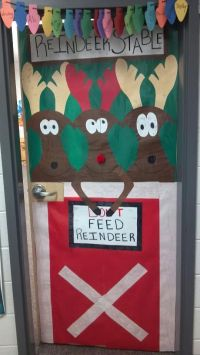 """My door at school I decorated for Christmas 