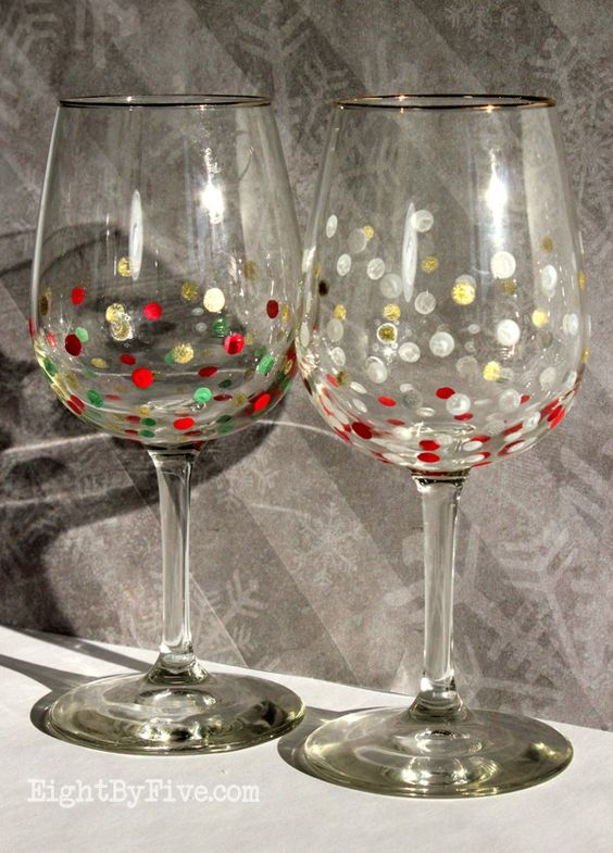 Simple Easy diy and Painted wine glasses on Pinterest