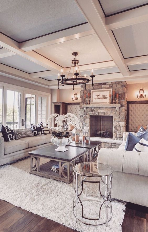 That ceiling - that fireplace: