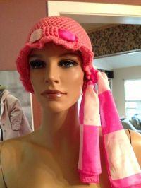 Crochet chemo cap with scarf tie   My Crochet items ...