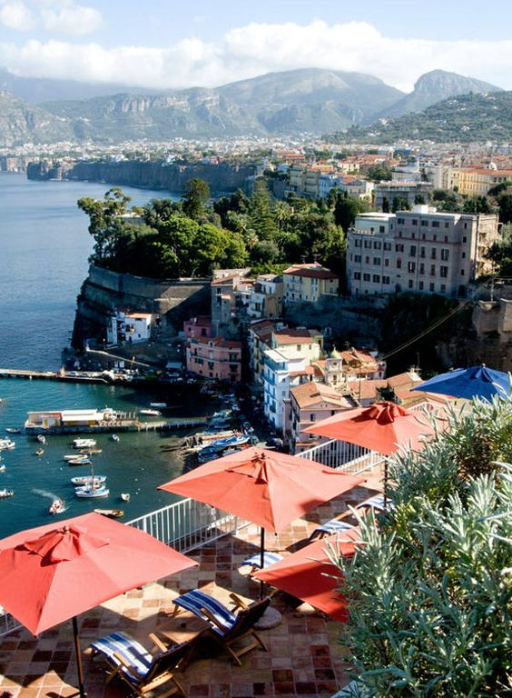 View of Sorrento, Italy from La Minervetta Maison, a boutique hotel: