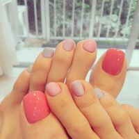 Cute foot nails design