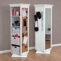 Display-It Rotating Swivel Storage Mirror and Bookcase ...