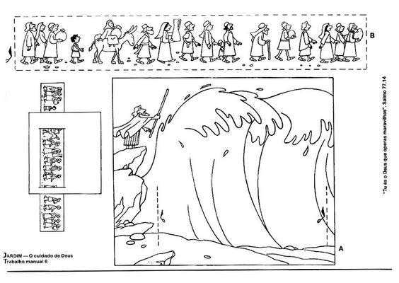 Israelites Crossing The Red Sea Coloring Page Coloring Pages