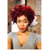Red colored natural hair | Red Natural hair | Pinterest