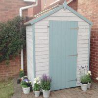 Beach hut inspired garden shed #pastel #blue | beach house ...
