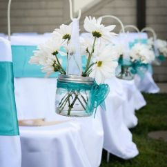 White Chair Covers Cheap Metal Tub Chairs Candelabra Centerpieces : Wedding Sashes Turquoise Candelabras Candles Teal ...
