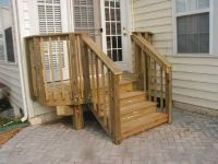 wooden steps for garden | Wooden Stepswith a landing ...