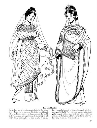 (discuss costumes from Egypt or Byzantines Era) write and