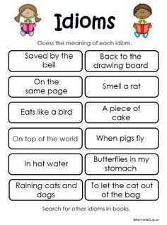 Idiom Worksheets 4th Grade