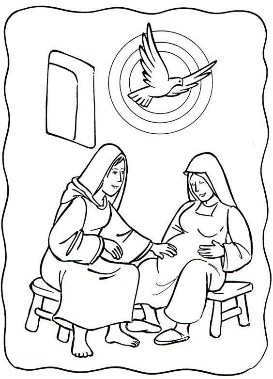 Mary and Elizabeth Bible Story Clip Art Free