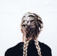 two braids tumblr - Google Search | Hair | Pinterest | Two ...
