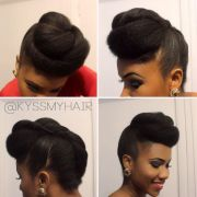 roll & tuck twisted pompadour