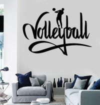 Wall Stickers Vinyl Decal Volleyball I Love Volleyball