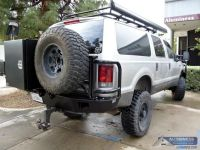 Aluminum Off Road Rear Bumper with Spare Tire Carrier and ...