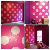 Disney, Polka dots and Purple walls on Pinterest
