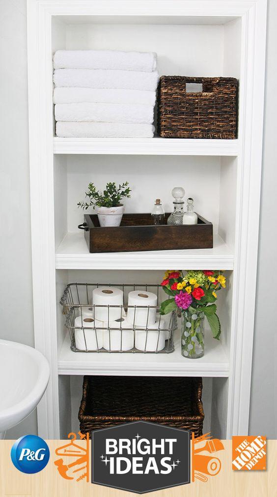 Open Shelves Create Perfect Bathroom Storage Love the