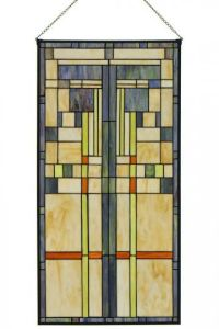 Craftsman design stained glass!   Our house is a very ...