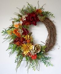 Rustic fall wreath | Fall wreath | Fall decor | Wall decor ...