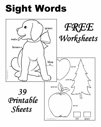Sight word worksheets, Coloring pages and Coloring on
