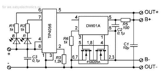 Зарядное устройство для Li-ion на ТР4056 / Деталька