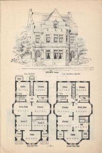 Old Classic Floor Plans. 1890s 2 story home Artistic city ...