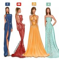 Social media girls in Haute Couture dresses by Zuhair ...