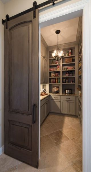 sliding barn door kitchen pantry Roses and Rust: Borrowing from the Past - Barn Doors